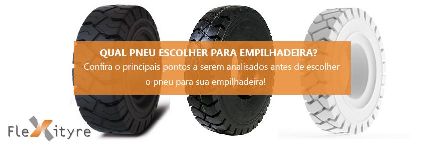 Qual pneu escolher para a empilhadeira?